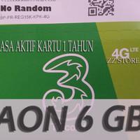 harga Perdana Three/3/tri Aon 6gb+12gb+20gb Masa Aktif 1 Tahun Tokopedia.com