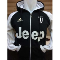 harga Jaket Hoodie Juventus J-441r Raglan Zipper Juve Kombinasi Hitam Putih Tokopedia.com