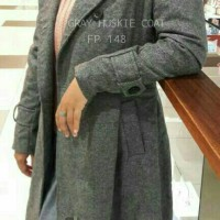Jual Limited - Gray Huskie Coat Fp 148 - Trenchcoat - Autumn Coat - Coat Murah