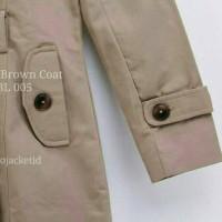Jual Sweet Brown Coat BL 005 - Trenchcoat - Coat Wanita - Coat Murah