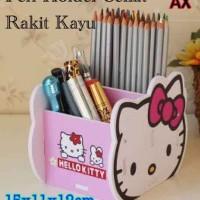 Jual rak pen holder kayu hello kitty diy  Murah