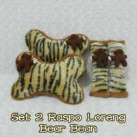 Set car headrest bantal sandaran jok mobil boneka teddy bear mr bean 2