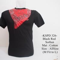 harga Kaos Lengan Pendek Distro Casual Terbaru Black Red Sorban - 326 Tokopedia.com