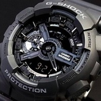 Jam Tangan Casio G-Shock GA 110 Full Black Original BM