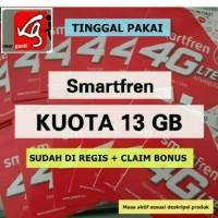 kartu perdana internet smartfren 13gb kuota fren 13 gb alte 65gb 65 gb