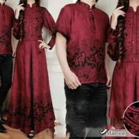 Jual Gamis Couple | Busana Muslim Kapel | Baju Batik  | Kebaya Couple AS72 Murah