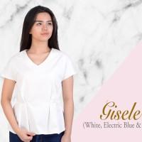 Gisele Top Atasan Putih Baju Lengan Wanita Blouse Katun Cotton Casual