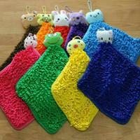 Jual DISKON Lap Tangan / Hand Towel / Microfiber Cendol Model Kotak Karakte Murah