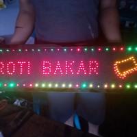 Tulisan Lampu Led Sign ROTI BAKAR logo cantik - LIKE RUNNING TEXT