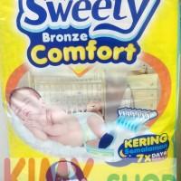 Popok Perekat Bayi Sweety Bronze Comfort NB S 44 Diapers