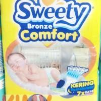 Popok Perekat Bayi Sweety Bronze Comfort M 40 Diapers