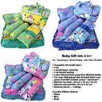 Jual Baby Gift Sets 4in1 = Tas Gendongan Alas Tidur Bantal Guling Murah  Murah