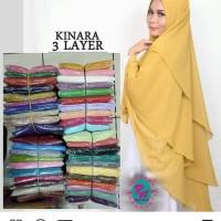 Jual hijab syar'i/hijab layer 3/hijab pinguin/jilbab kuning Murah