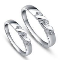 cincin lamaran model baru bahan emas putih 50% dan palladium 25%