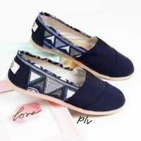 Jual Sepatu Flat Shoes Flatshoes Murah ala Wakai NS81 Navy Murah