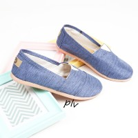 Jual Sepatu Flat Shoes Flatshoes Murah ala Wakai NS55 Denim Murah