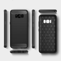 Samsung Galaxy S8 Plus TPU Thin Softgel Case Carbon Brush casing cover