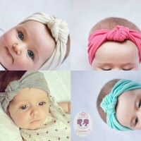 Jual Bandana Bayi Anak Turban Bando Warna-Warni | Baby Headband 9 Murah