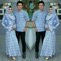 Harga baju pasangan batik couple sarimbit muslim seragam pesta hijab | Pembandingharga.com