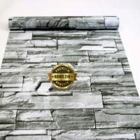 Grosir Murah -Wallpaper Sticker Dinding Batu Alam Andesit 10 M x 45 cm