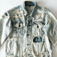 Jual Jacket Jeans Extreme Ripped Murah