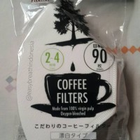Daiso Coffee Filter / Saringan Kopi / Filter Kopi (Bleached)
