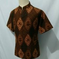 Jual Kemeja batik pria baju batik cowok krah koko shanghai cs1 Murah