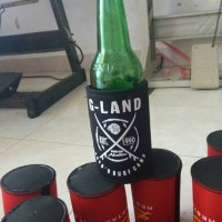 stubby holder botol bir ukuran besar buat promosi branding 2 warna