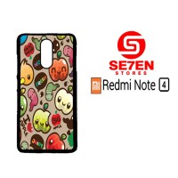 Casing HP Xiaomi Redmi Note 4 apple fruits Custom Hardcase