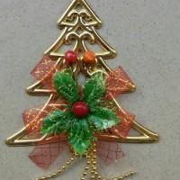 Jual Hiasan Gantung Motif Pohon Natal + Bunga Murah