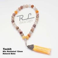 Tasbih Mix Rutilated 12 mm
