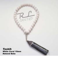 Tasbih White Coral 10mm