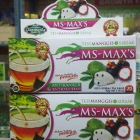 Jual Teh Celup Ms Maxs Original,Teh Kulit Manggis Plus Daun Sirsak Murah