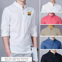Baju KOKO SHAQUILLE Putih Barcelona Muslim Pria GROSIR DISKON GROSIR D