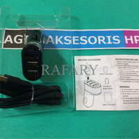 Jual Car Charger 3 Output Saver Log-On 3 in 1 Full Output 4.4A 2.4A/1A/1A Murah