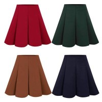 Emma Space Cotton Skirt(#8)/Rok midi/Rok tebal/Rok pesta