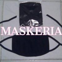 masker kain polos hitam