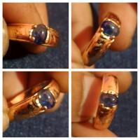 Jual Cincin Blue Sapphire - Safir Mini Seri 1 Size Ring No.8 Murah