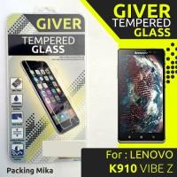 Jual TEMPERED GLASS GIVER LENOVO K910 VIBE Z  Murah
