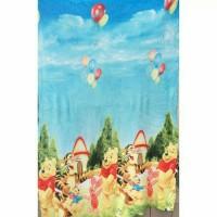 Jual Selimut Sutra Halus Motif Anak Pooh Ballon Murah