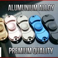 Premium Fidget Spinner (2 Sisi) Metal Besi Alumunium Alloy