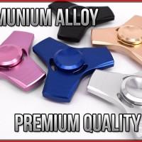 Premium Fidget Spinner (3 Sisi/High Speed) Metal Besi Alumunium Alloy