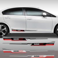 Stiker Strip Body Suzuki Sport Racing Cutting Sticker Pintu Swift SX-4
