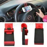 harga Car Holder Steering Smartphone Tempat Tatakan Dudukan Hp Di Stir Mobil Tokopedia.com