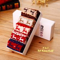 Jual 5 in 1 Set Kaos Kaki RUSA (1 kotak isi 5 pcs kaos kaki warna berbeda Murah