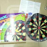 Jual papan dart board COOL size sedang 15inc / mainan panahan anak Murah Murah