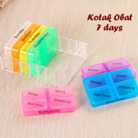 Jual Kotak Obat 7 Days (Terdiri dari 7 kotak utk pemakaian Seminggu) Murah