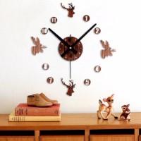 Jual Giant Wall Clock Jam Dinding Besar DIY 30-60cm Vintage Deer ELET00663 Murah