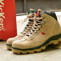 Jual Best seller!! Sepatu safety boot kickers kulit asli (kerja proyek) Murah