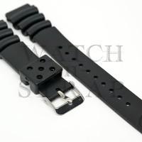 Tali Jam Tangan - Seiko Aftermarket Black Rubber Diver Strap 20mm Z20